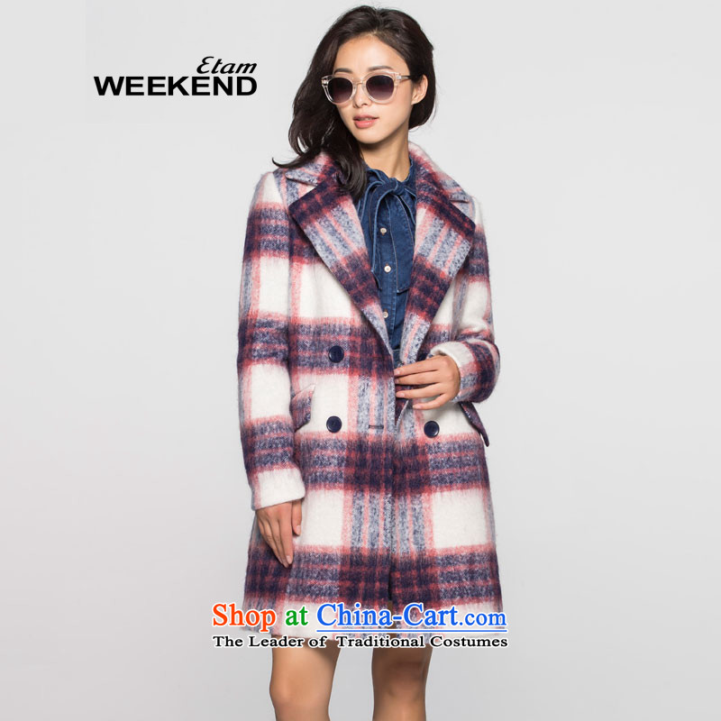 Thenew 2015 W WEEKEND leisure in plaid long coats 1502341129936S color