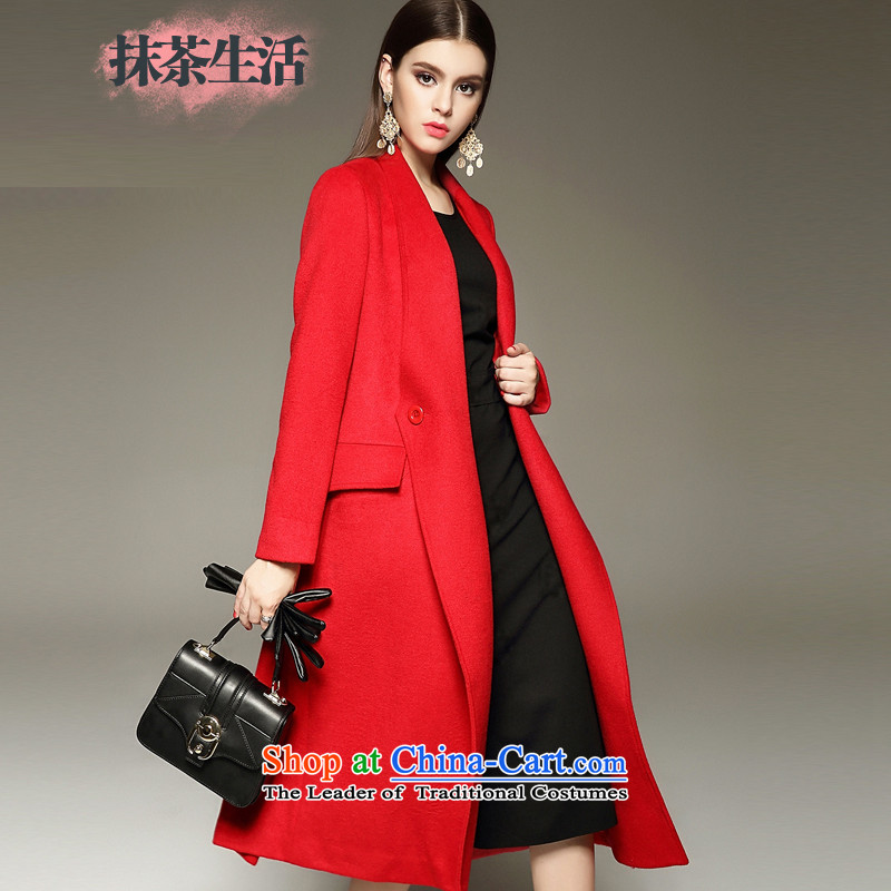 Matcha life jacket women gross wool? Western-style suit for winter 2015 Sau San new long-sleeved red cloak聽M Gross?