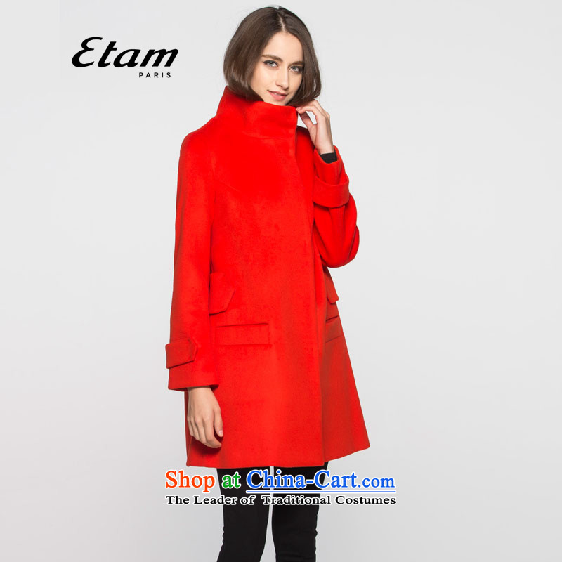 The?new 2015 W ETAM high collar solid color coats 15013405801 gross??38M red