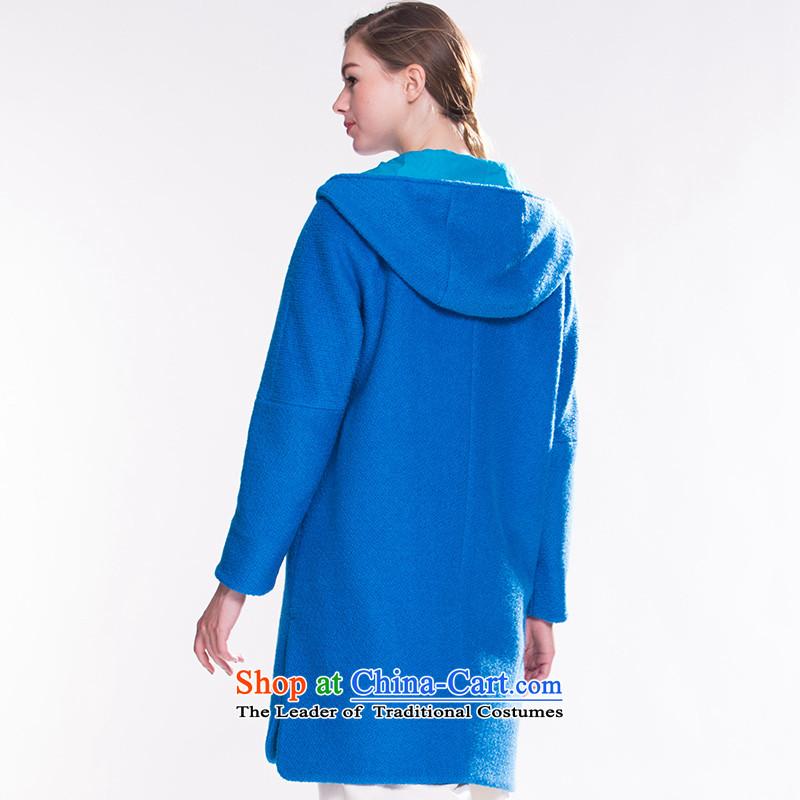 Song Leah GOELIA Women2015winter clothing new cap material long coats?15DE6E38A U59 blue, L, Song Leah (GOELIA) , , , shopping on the Internet