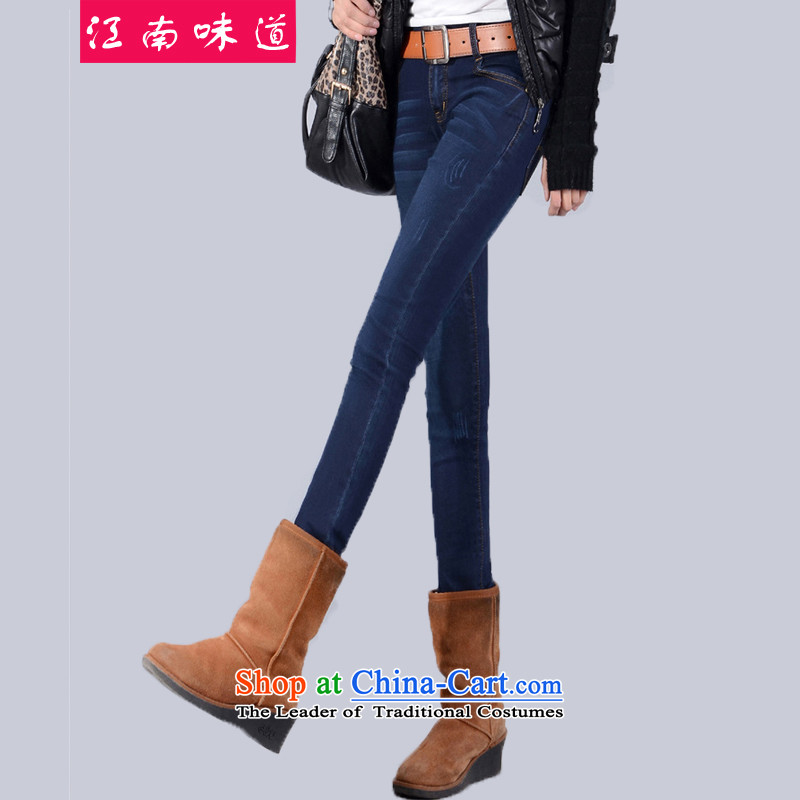 The Gangnam flavor to increase women's code for winter thick, Hin thin trouthes thick plus lint-free warm video thin thick winter jeans female 2,122 MM plus lint-free,� recommendations 140-160 characters catty