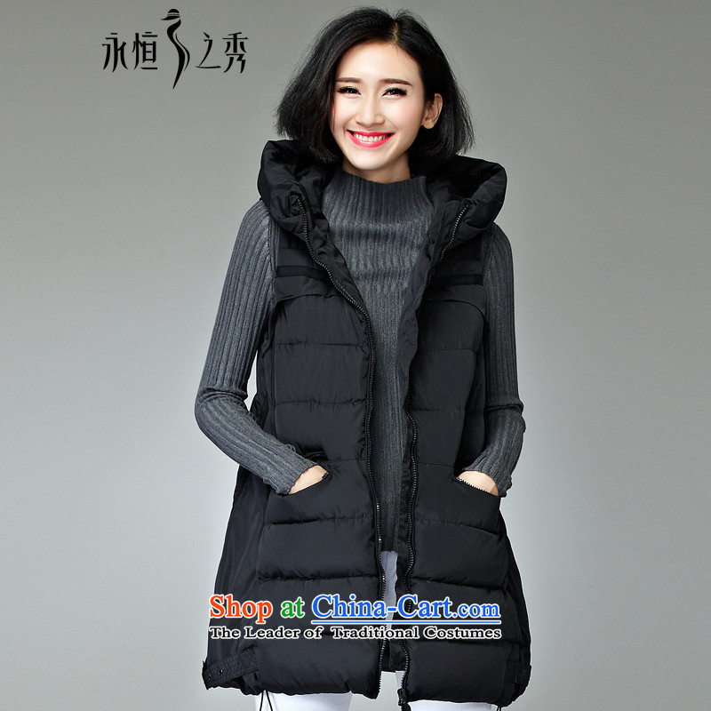 The Eternal Soo-To increase the number of women serving on cotton jacket MM sister 2015 Fall/Winter Collections of new products in the thin, Hin Thick Long Korean Ms. ãþòâ vest black2XL