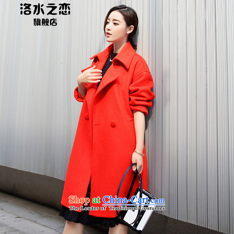 The water of the gross coats female 2015 Autumn? for women of autumn and winter stylish Korean version of Sau San? jacket female orange gross燤