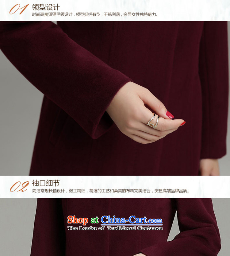 Yet 湲 winter clothing new 2015 non-Cashmere wool washable wool coat fox female Korean Sau San Mao jacket blue 3XL135-145? catty picture, prices, brand platters! The elections are supplied in the national character of distribution, so action, buy now enjoy more preferential! As soon as possible.