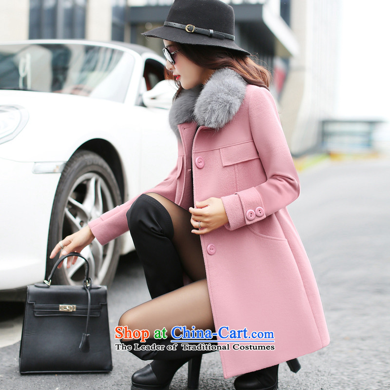 Cashmere cloak had sin 2015 winter clothing new gross jacket girl who decorated? In long wool a wool coat female leather toner� M