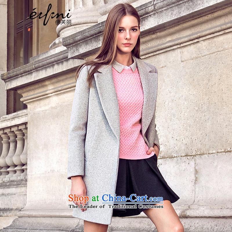 Of the 2015 winter clothing new Lai) long hair? jacket lapel woolen coats female 6580847207?S Light Gray