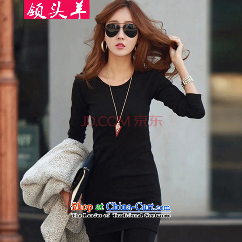 Leader in the autumn and winter 2015 large western new women to increase the burden of the Netherlands thick MM200 forming the thick plus lint-free long-sleeved female black skirt 3XL recommendations 140-160 characters catty