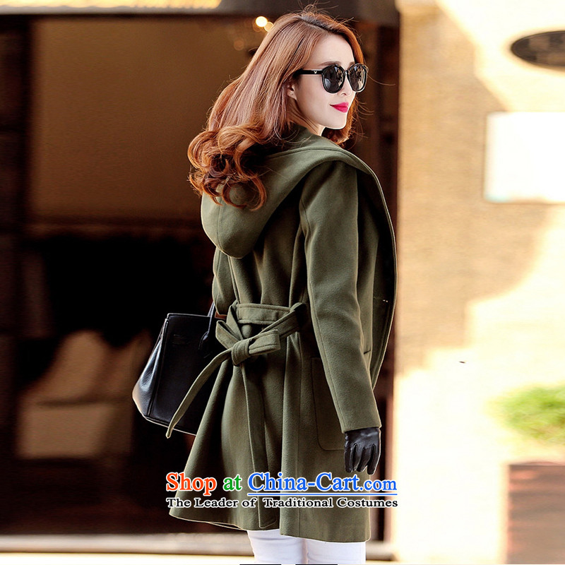 Sleek and versatile in pure color long jacket, Army GreenM Xin, Chemist (XINYARAN) , , , shopping on the Internet