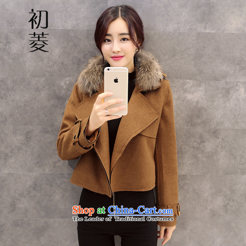 The early winter 2015 diamond aristocratic small incense wind jacket female short hair?_ with a thin long-sleeved so Sau San graphics sub-jacket picture color XL