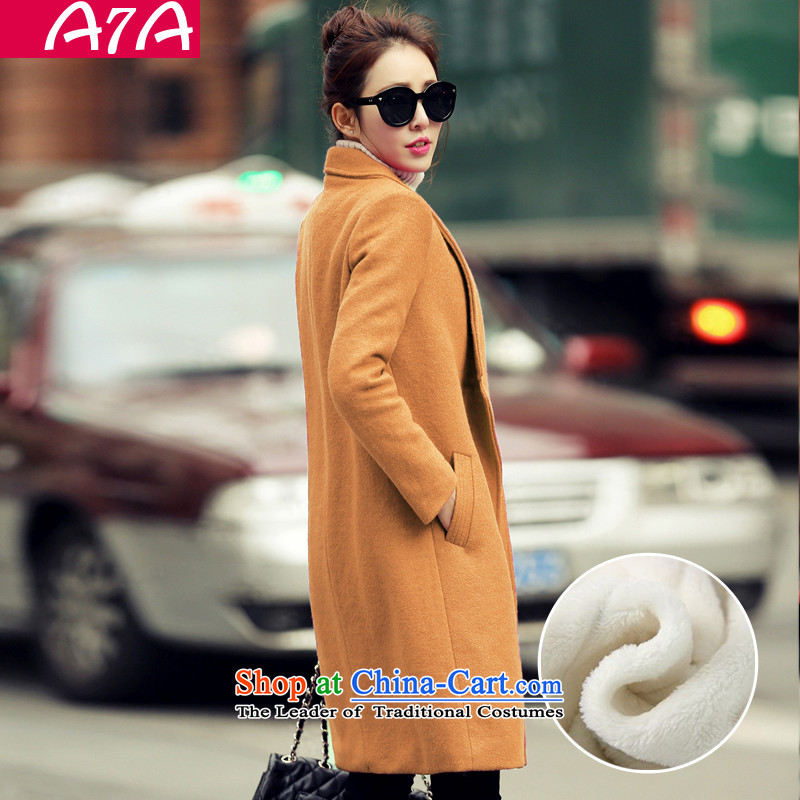 A7a2015 autumn and winter new gross female Korean jacket? In the long load lint-free a wool coat A46 and colors plus lint-free聽M code