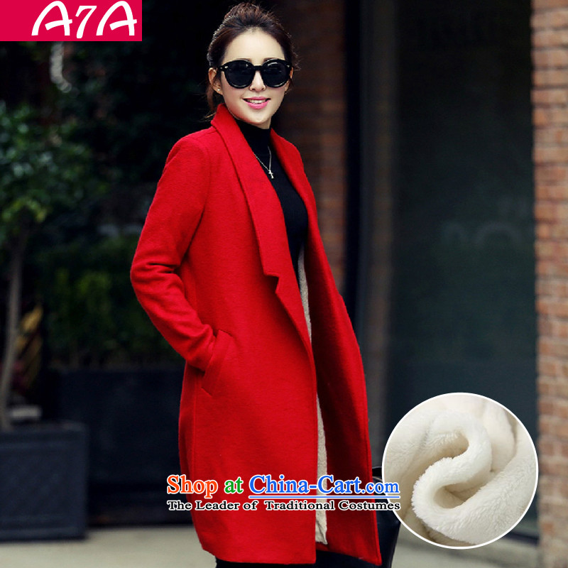 A7a2015 autumn and winter new gross female Korean jacket? In the long load lint-free a wool coat A46 and colors plus lint-free聽code ,A7A,,, M shopping on the Internet