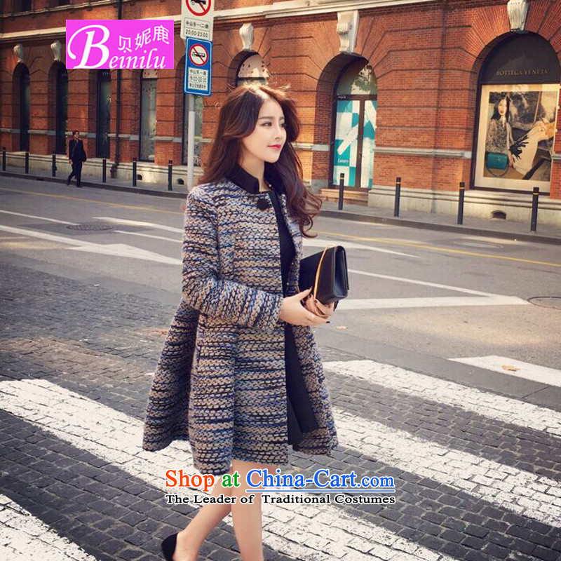 Connie Deer 2015 Addis Ababa Fall/Winter Collections new single row detained a long-sleeved suit umbrella coarse wool terylene gross map color coat? M