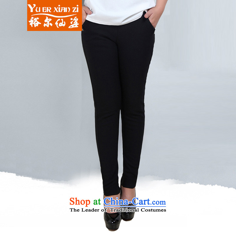 Yu's sin for 2015 autumn and winter 200 catties thick mm high Waist Trousers, forming the lint-free thick female ad to increase the number of long pants wearing black 6XL 180-220 recommends that you Jin