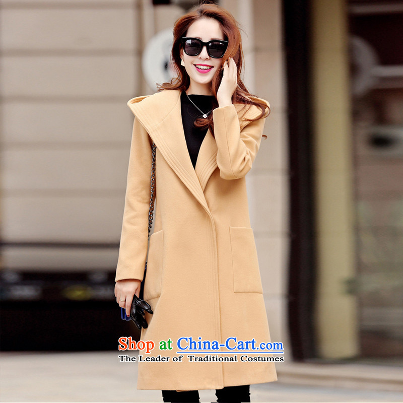 The Korean version of the sleek and versatile with cap and color coats燣