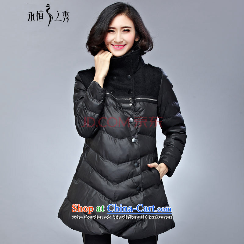 The Eternal Soo-To increase the number of female jackets for winter 2015 cotton coat new product expertise MM thick, Hin thin sister, Ms. Jacket coat in Europe and long black�L