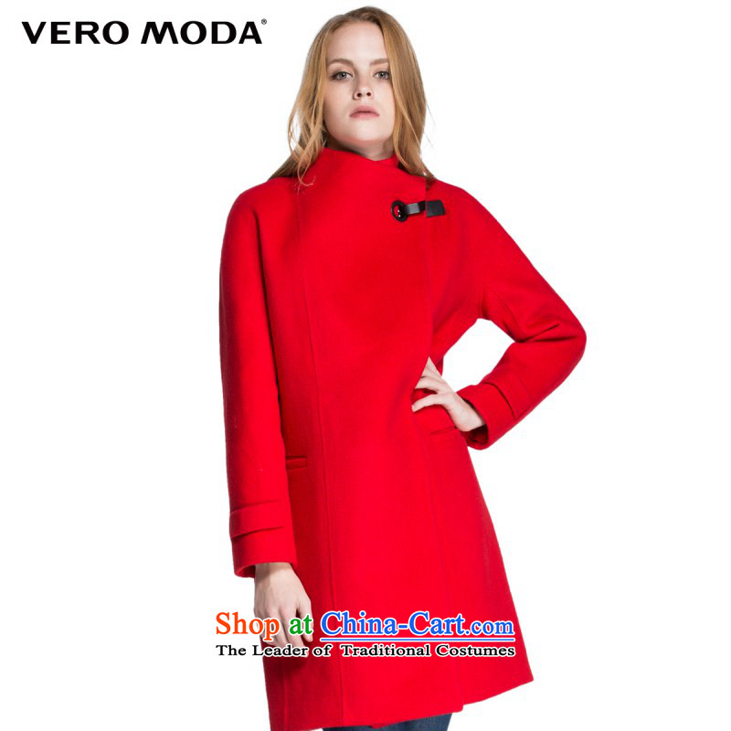 Vero moda solid color fabric crease resistant metal buckle flap straight in the body of this long coats |315427011 WEATHERBOARD 165_84A_M 077