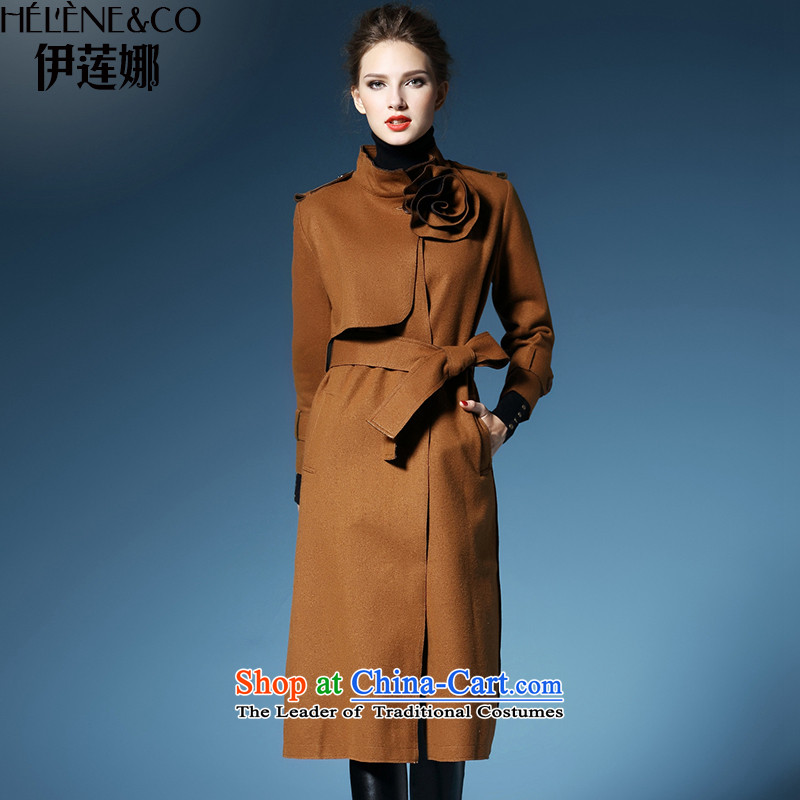 El Nina Winter 2015 New Product gross? jacket a wool coat girl in autumn and winter coat long temperament Sau San Korean autumn replacing han-beom and color燣_165