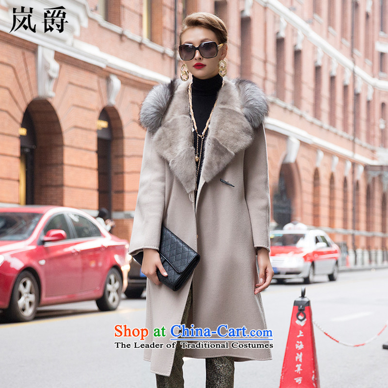 Lord included winter new duplex 2015 cashmere overcoat female high-end fox mink for Gross Gross 0067 meters and jacket? L