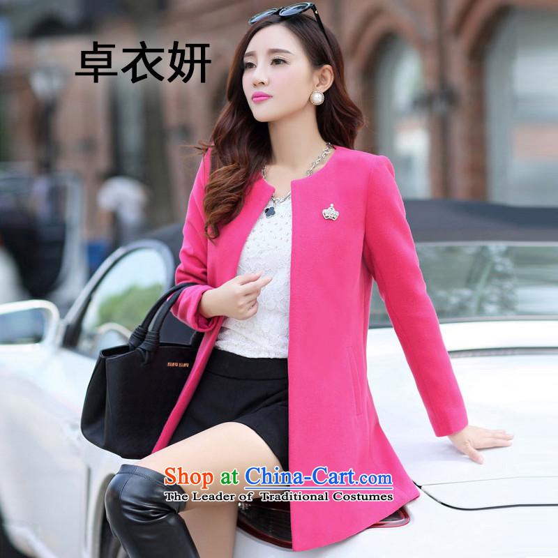 1475#2015 autumn and winter female new Korean version plus cotton thick round-neck collar a case of female in the Sau San REDM