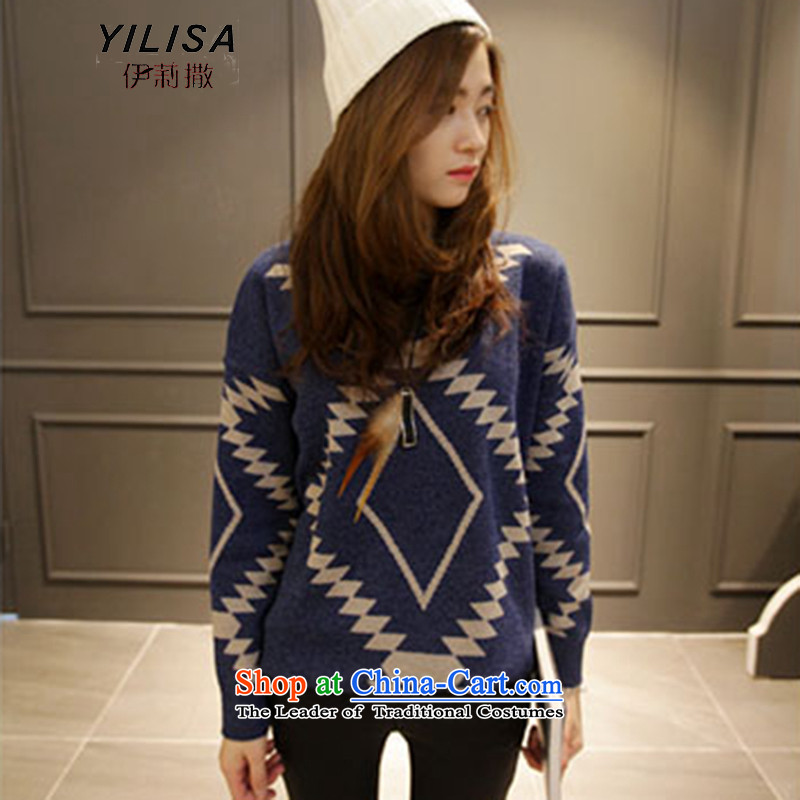 Elizabeth sub-autumn and winter ad new larger women to increase the burden of T-shirts sweater 200 MM thick winter clothes, forming loose thick knitted shirts H5235 picture color 3XL