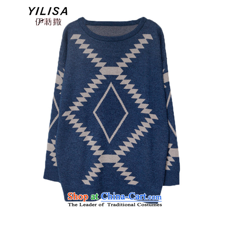 Elizabeth sub-autumn and winter ad new larger women to increase the burden of T-shirts sweater 200 MM thick winter clothes, forming loose thick knitted shirts H5235 picture color聽3XL, Elizabeth (YILISA sub-shopping on the Internet has been pressed.)
