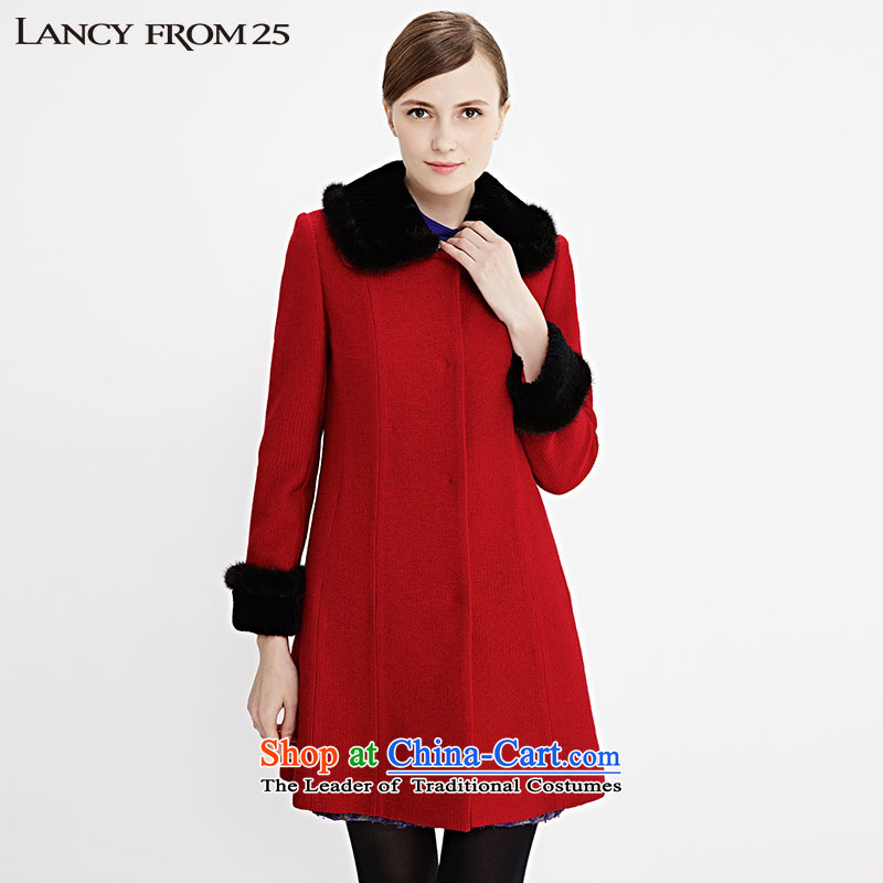 Gigi Lai Yuen Long New 2015 LANCY female winter clothing, rabbit hair style to grow up Sau San Yi LC13404KHC017 REDXL