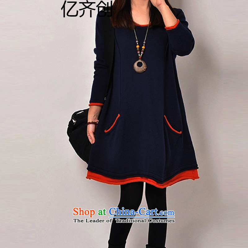 Billion by 2015 to create the xl female thick mm winter clothing skirt the lint-free video thin, long, thick, forming the women clothesG6133XXXXXL Dark Blue