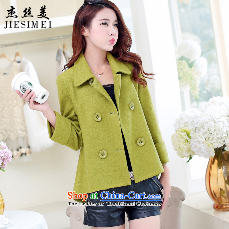 Cheng Kejie was US Women�15 new coats autumn and winter thick short of female Korean jacket coat? Edition Sau San a wool coat female olive燤