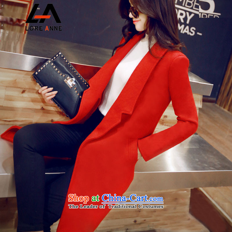 La4 of the Korean version of winter coats the unit so gross thick warm? coats of Sau San 711 RED         M