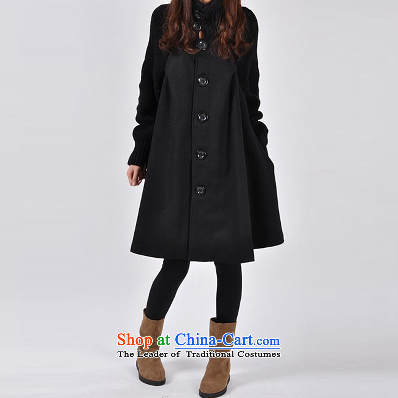 The Korean version of large equipment yi code so sub cloak wind jacket, black overcoat L gross?