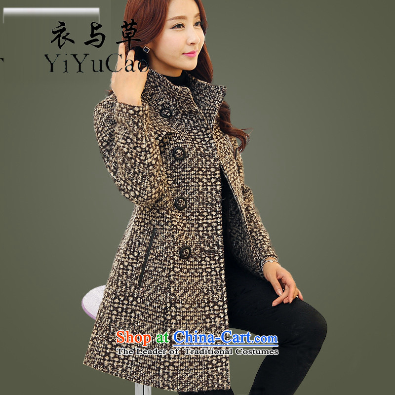 Yi 2015 fall quarter with grass new autumn and winter female autumn on women?? Jacket coat female gross women on winter new pictures color XL