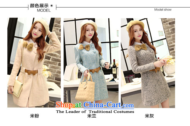 Kam Ming Yue? female coats seven winter 2015 Korean version of the new thickening of female Sau San Mao jacket?? In coats long woolen coat female rice flour color L picture, prices, brand platters! The elections are supplied in the national character of distribution, so action, buy now enjoy more preferential! As soon as possible.