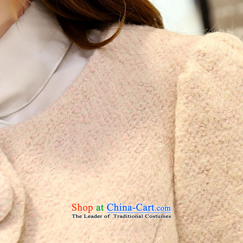 Kam Ming Yue? female coats seven winter 2015 Korean version of the new thickening of female Sau San Mao jacket?? In coats long woolen coat female rice flour color L, Kam Ming Yue , , , 7 shopping on the Internet