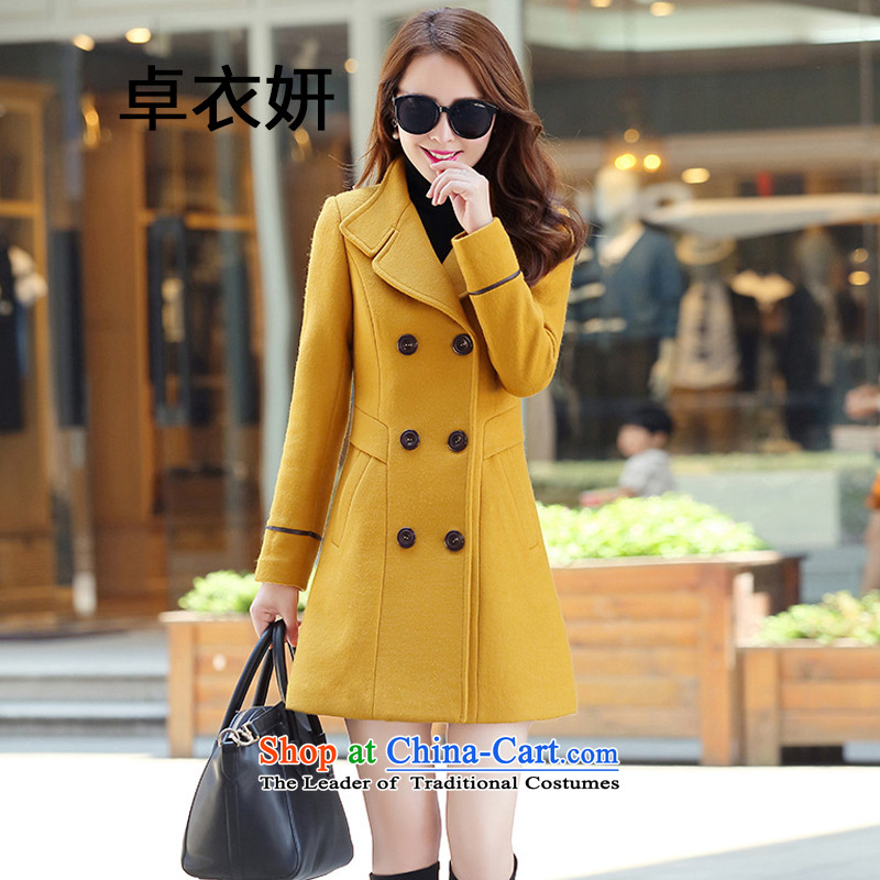 The autumn and winter load 1482#2015 new women's decoration in double-yellow jacket? gross L