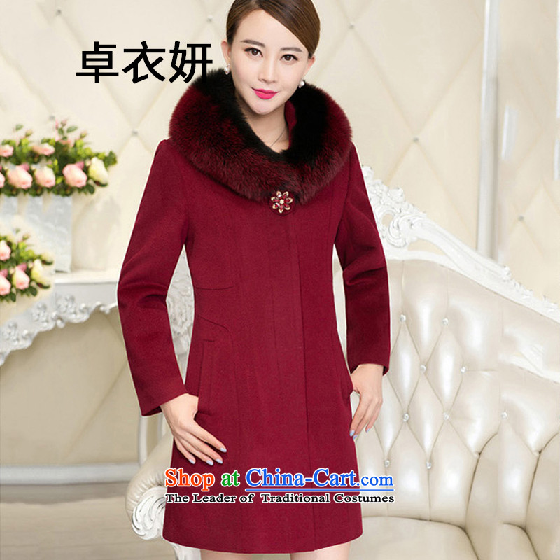 The autumn and winter 1483_2015 code in older long gross wine red jacket聽XXXL?