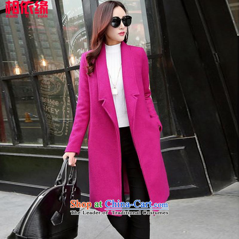 Dependency Edge gross? 2015 winter coats female new women in Korean long hair Sau San? coats female 230A PURPLE燤