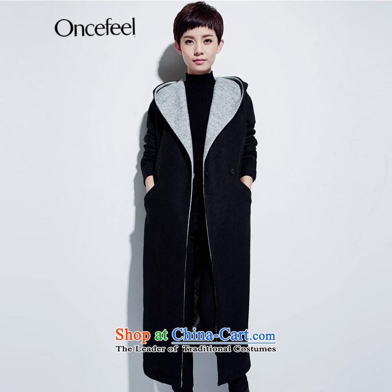 2015 winter clothing new Western wind long coats fleece? female Female Cap gross girls jacket? Long Large winter a wool coat female black燤