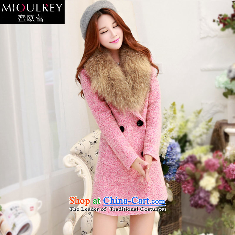 Alfa Romeo Lei Han version 2015 winter coats new gross?   in the female long jacket, a thick tweed coats nagymaros female 1031 pink燲L