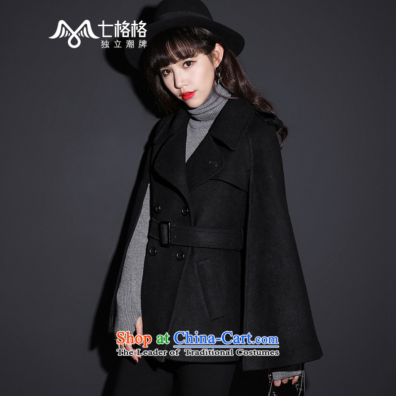 _Non-dual 12 7- Pearl? 2015 winter coats gross new cloak? female black jacket _ M
