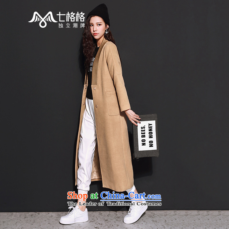 _Non-dual 12 7- Pearl? 2015 winter coats gross new wearing long and two color coats female beige M?