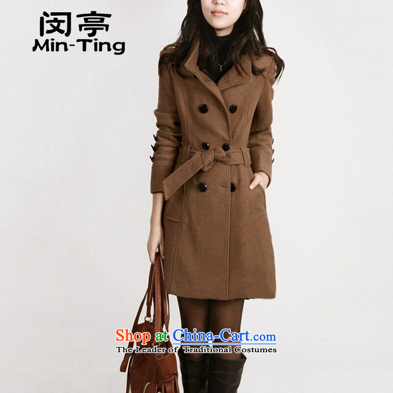 Min-a wool coat 2015 Fall_Winter Collections new larger gross girls jacket? long graphics thin collar Sau San Mao? And color coats�L