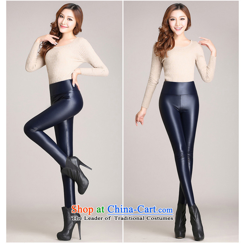 The Director of the women's code 2015 autumn and winter plus lint-free thick PU leather pants girl Sleek and versatile knitted elastic castor trousers black large code XXL around 922.747 140 pictures, prices, brand platters! The elections are supplied in the national character of distribution, so action, buy now enjoy more preferential! As soon as possible.