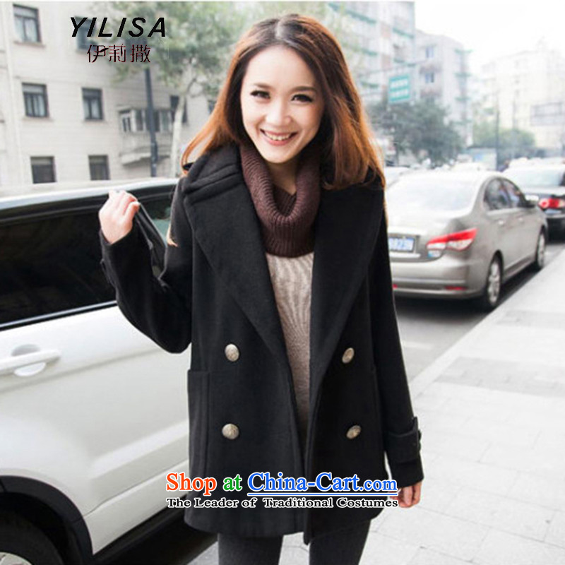Ms 2015 sub-new to increase women's code gross? mm thick winter coats. Fatsos video thin hair? large jacket a wool coat K825 black燲XL