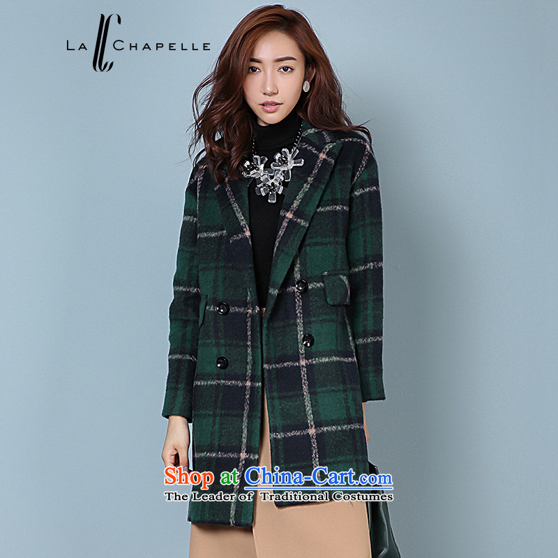 La Chapelle 2015 winter new grid color mixer suits for double-coats girl handing it gross color mixer?L