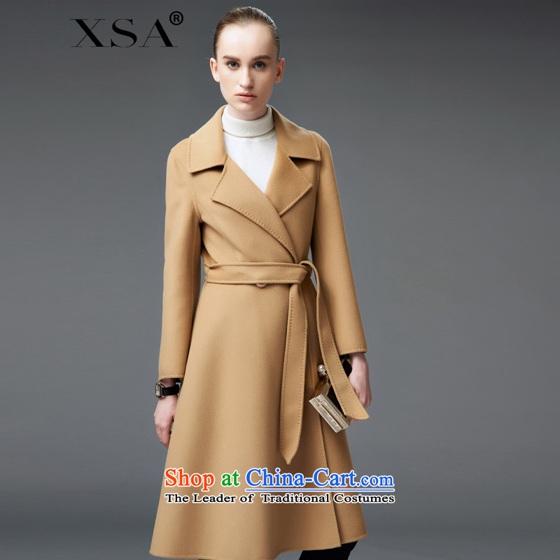 Elizabeth cashmere overcoat girls oak high-end 2-sided Fleece Jacket is long Sau San 18001 pre-sale 5 days and 15 days scheduled Shipment color聽S