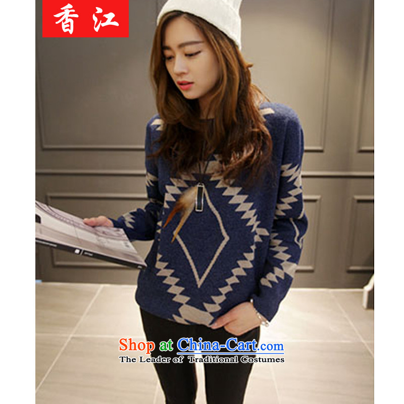 Xiang Jiang thick mm2015 autumn new to increase women's long-sleeved sweater code forming the Netherlands 200 catties thick sister knitwear female 5235 picture color Large 5XL code