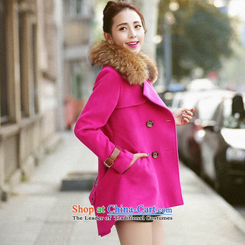 Gross jacket cloak? female campaign for Connie jacket sub gross a wool coat of red燲L