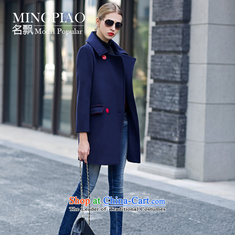 Name of the autumn and winter 2015 floating in the new Korean fashion wool coat?? jacket women gross dark blueXL