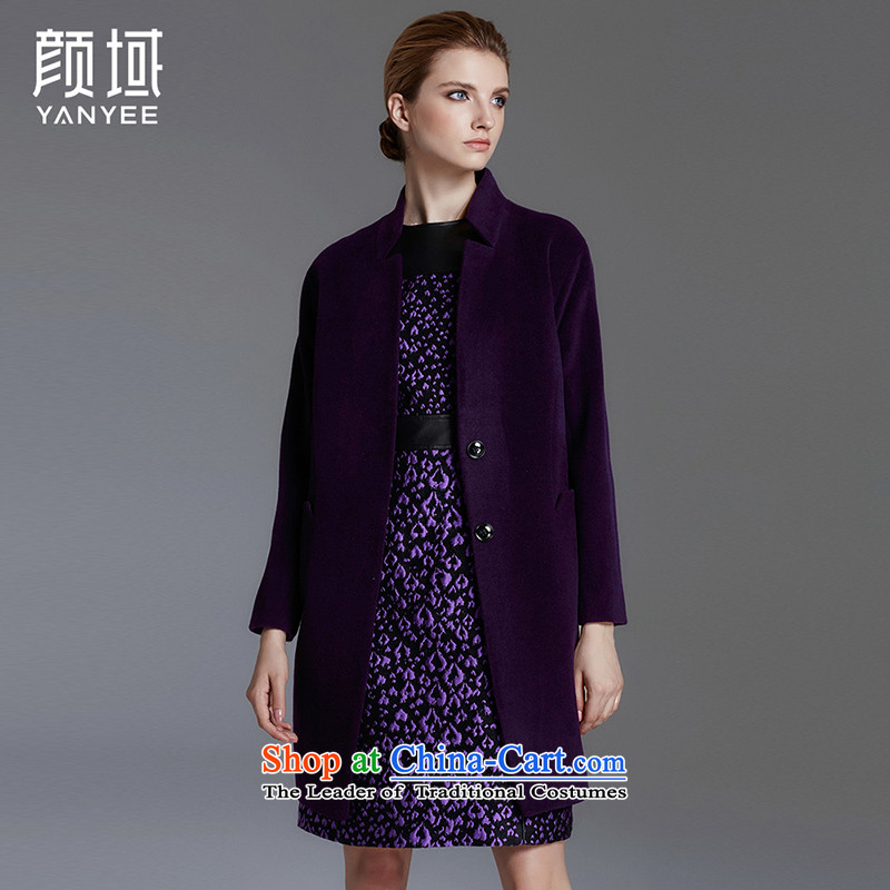 Mr NGAN domain sexily in long-coats 2015 Winter Olympics cocoon with new women's western minimalist atmosphere jacket�W5746? gross牋L_40 Purple
