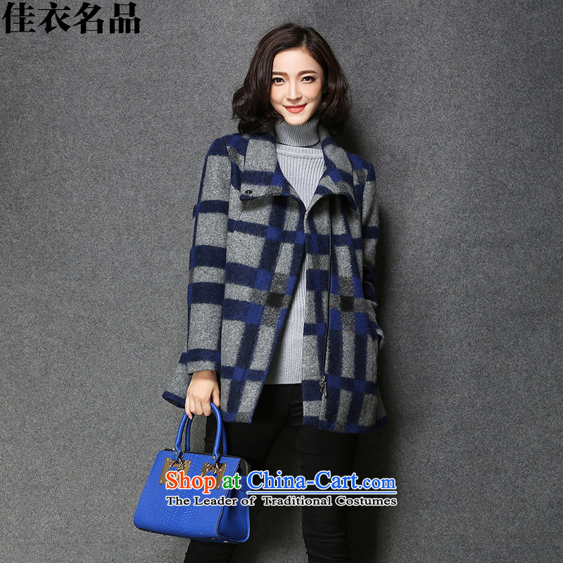 Better, Yi 2015 short of female presence among the largest jacket? code wool a wool coat autumn and winter grade loose video thin F5851 LATTICED XL